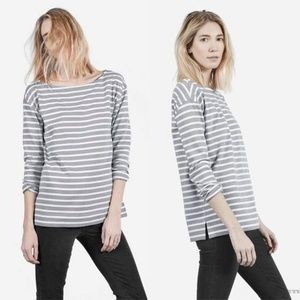 Everlane The Heavyweight Striped Tee Cotton Top